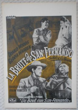 Bells of San Fernando, Original Belgian Film Poster, Donald Woods, RARE, '47